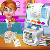High School Girls ATM Machine Sim - Cashier Games
