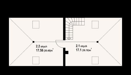 Garaż G2 (08) - Rzut poddasza