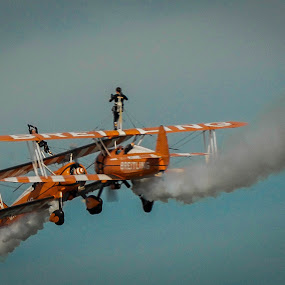 Near Miss by Phil Clarkstone - Transportation Airplanes