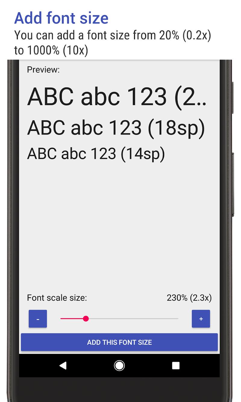 Big Font (change font size & display size) Screenshot 5