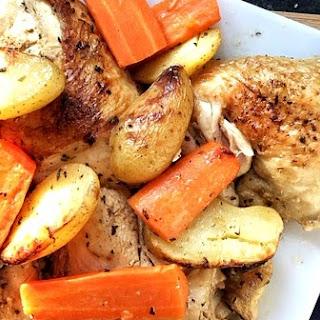Greek Lemon Chicken with Potatoes, Κοτόπουλο λεμονάτο με πατάτες στο φούρνο