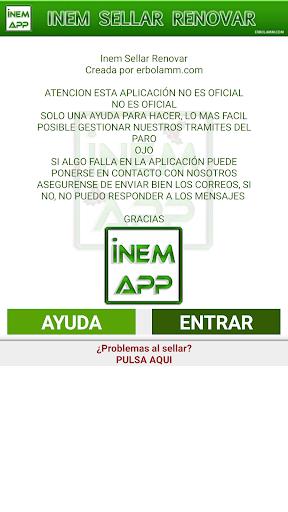 Inem sellar renovar app apps for Inem sellar paro internet