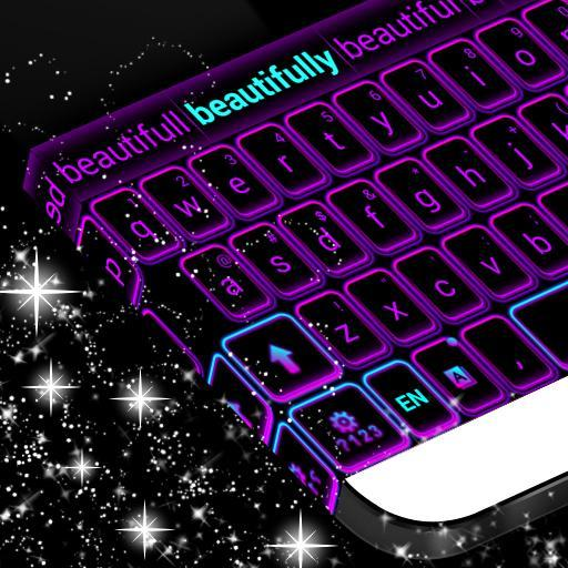 Color Keyboard Neon Purple