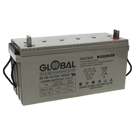 AGM Batteri Global 12V 108Ah 77270  LxBxH:484x169x204/237mm  ES100-12 7394086772702