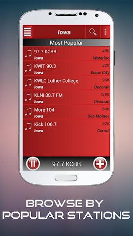 android A2Z Iowa FM Radio Screenshot 1