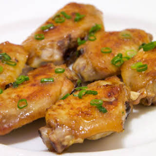Baked Chicken Wings With Green Onions.