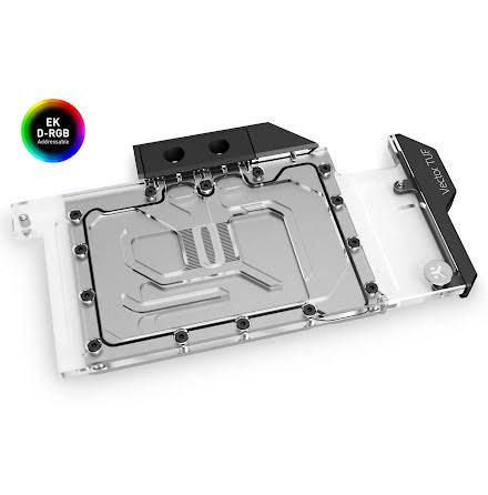 EK vannblokk for skjermkort, EK-Quantum Vector TUF RTX 3080/3090 D-RGB - Nickel + Plexi