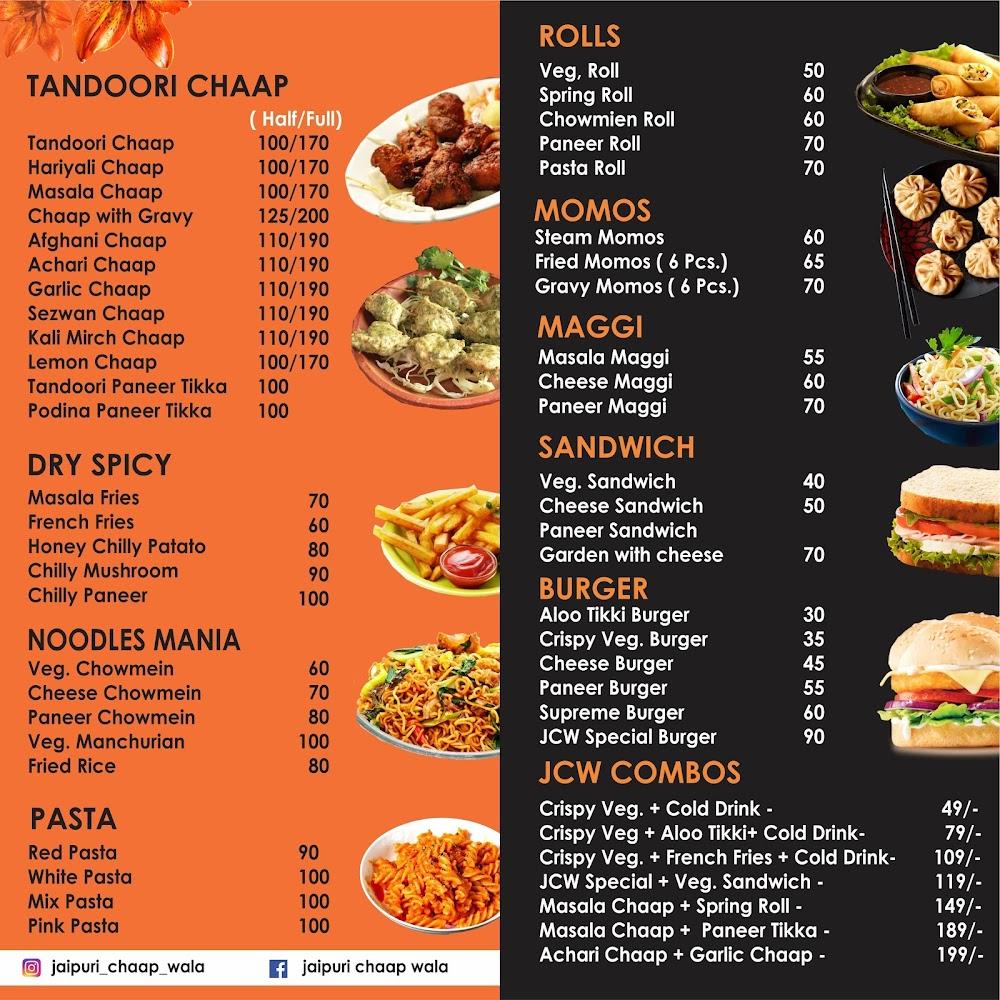 i Chaap Wala menu 1