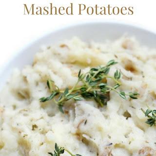 Rustic Rosemary Thyme Mashed Potatoes (Gluten-Free, Vegan, Paleo).