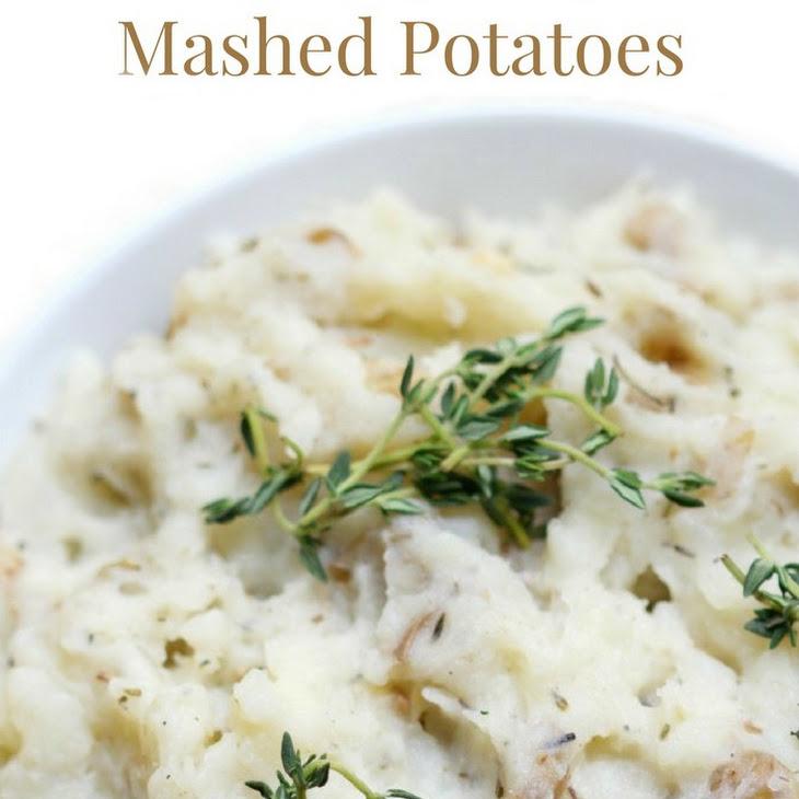 Rustic Rosemary Thyme Mashed Potatoes (Gluten-Free, Vegan, Paleo)