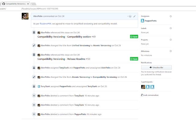 GitHubCom Hide Issues History