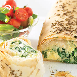 Spinach and Ricotta Strudel.