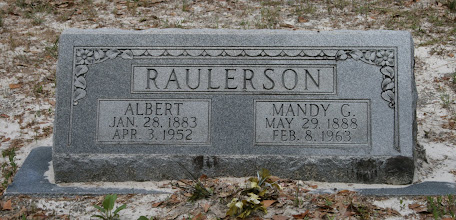 Photo: Albert S Raulerson son of William M Raulerson and America Texas Dinkins / Husband of Amanda Gainey