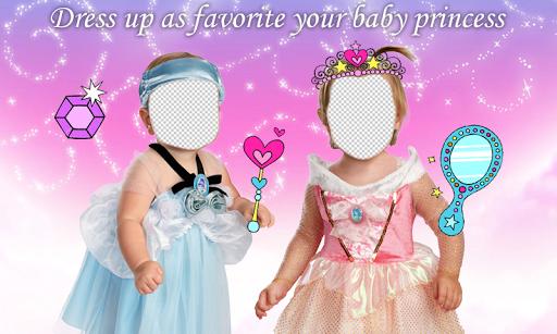 Baby Princess Photo Montage