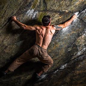by Matthew Robertson - Sports & Fitness Climbing ( flash, rock climbing, matt loon, sport, rock, night,  )
