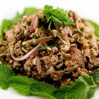 Spicy Beef Salad(Plea Sach Ko/Beef Larb or Laap) Recipe