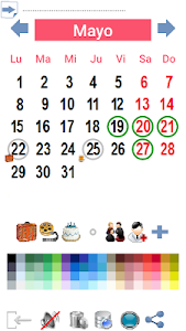 Calendario Paint screenshot 2