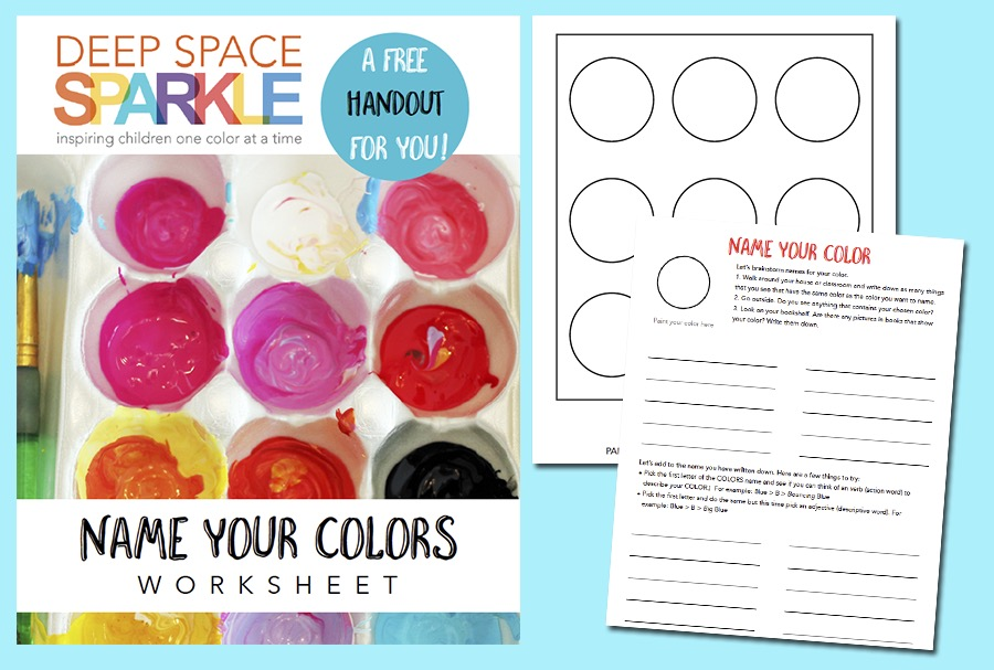 Children Use The First Worksheet To Record Their Favorite Paint Colors Then Create A List Of Verbs And Adjectives Come
