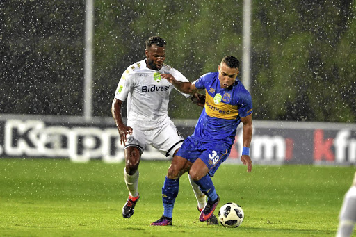 Cape Town City's Matthew Rusike, right, seen here with Bongani Khumalo of Wits, will face his former team Kaizer Chiefs for the first time this weekend.