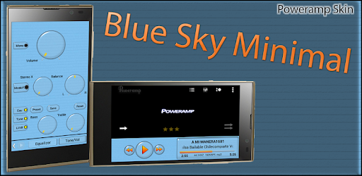 Poweramp Skin Blue Sky Minimal 2 1 (Android) - Download APK