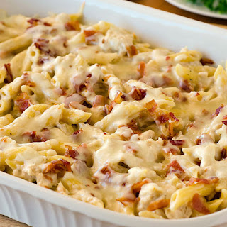 Chicken-Bacon-Ranch Baked Penne.