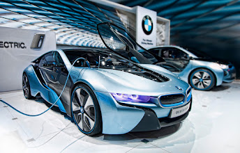 Photo: BMW i8  One of the coolest things at the New York International Auto Show was the amount of electric cars that were there. I've been a big fan of electric ever since I switched over to lipo batteries from nitro in my r/c cars. I know the kind of power electric can produce. In fact, the r/c industry has just about completely switched from fuel to electric in the last 10 years. Electric is so much cleaner and better for the environment. It doesn't put off any nasty fumes.  I'm all about alternative energy sources. At the EG Conference, a scientist named Amory Lovins had a very encouraging presentation on getting off of oil and nuclear and on to alternative, cleaner sources such as wind and solar. It was really neat to run my little swamp cooler last year at Burning Man. I used solar to power the water pump and rechargable lipo batteries to power the fan. It worked like a champ and kept my tent about 20 degrees cooler. So keep looking for different ways to power things up. It's the wave of the future.
