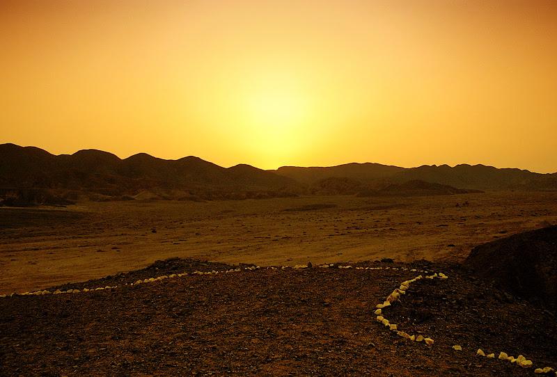 Tramonto nel deserto di Marlyn