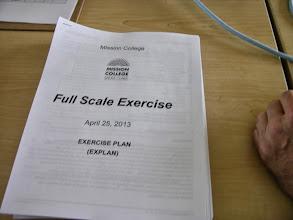 Photo: Exercise plan.