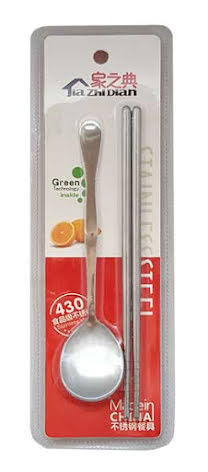 Chopsticks & Spoon Stainless Steel