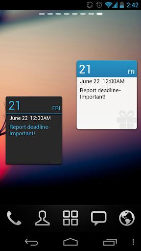 GO Calendar Widget screenshot 8