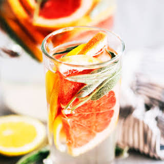 Grapefruit, Lemon and Sage Infused Water.
