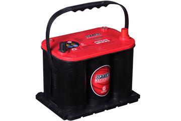 Optima startbatteri 12V 44Ah Red Top R3,7L,8035-255 LxBxH:237x172x197mm