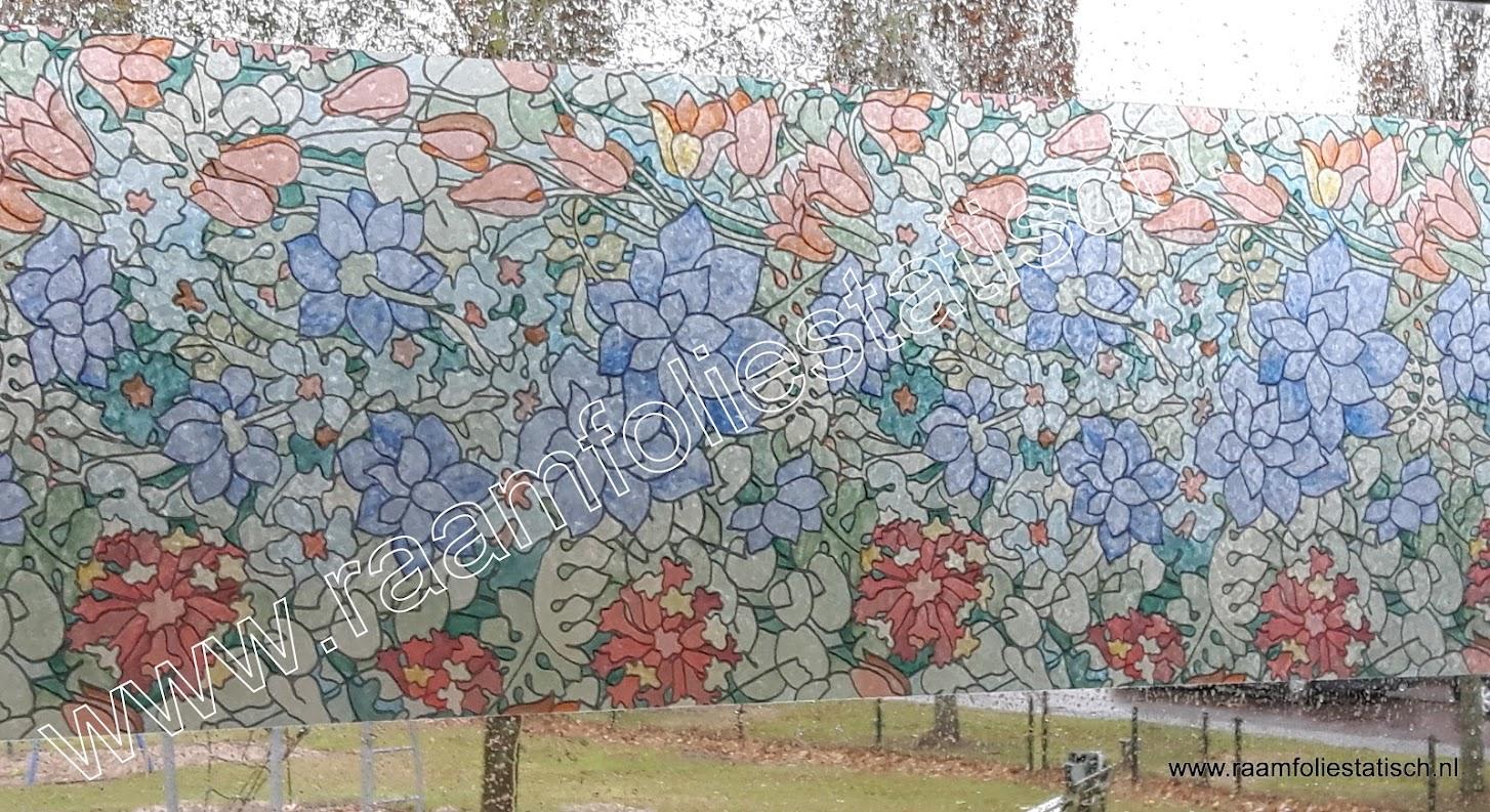 Raamfolie bloemen kleuren