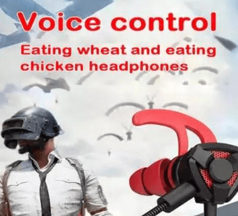 an ad for earphones with poor english translation about eat wheat and chicken headphones