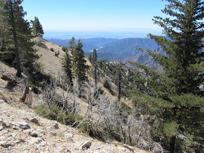 Photo: View south toward reservoirs in San Gabriel Canyon