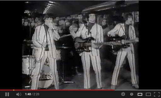 The Trogss in the video for their hit single 'Wild Thing' (1966).