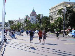 Photo: A final look down the Promenade, towards that symbol of Cote d'Azur luxury, the neoclassical Hotel Negresco.