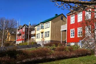 Photo: Homes along Lake Tjörnin