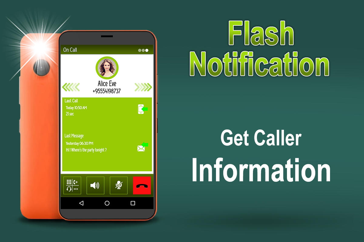 Flash Notification On Call, SMS & App Notification- screenshot