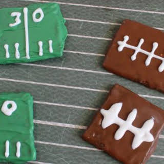 Football Party Graham Crackers.