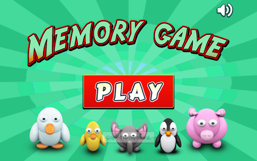 Animal Memory Match