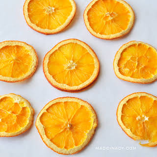 Oven Dried Orange Lemon Slices.