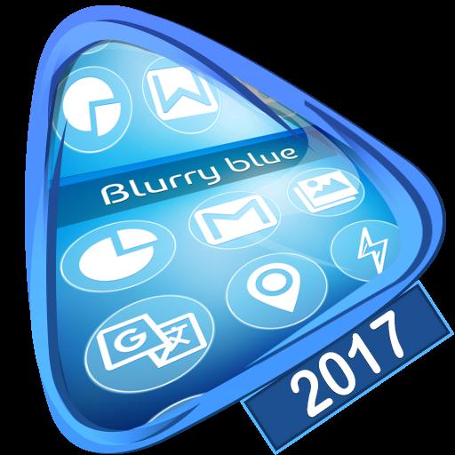 Blurry blue Launcher 2017
