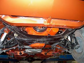 Photo: fresh burnt orange paint with the hemi orange 383 engine and 727 auto