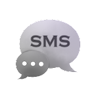 White Black Theme GO SMS icon