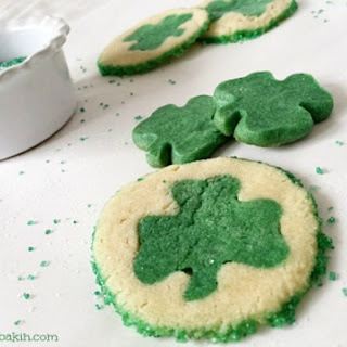 Shamrock Slice and Bake Sugar Cookies