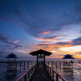 Sunrise at the Old Kenjeran Beach by Robertho Ponomban - Landscapes Sunsets & Sunrises