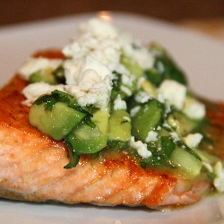 Photo: Baked Salmon with a Cucumber Lime Salsa:  http://www.homesavvyatoz.com/baked-salmon-with-a-cucumber-lime-salsa/
