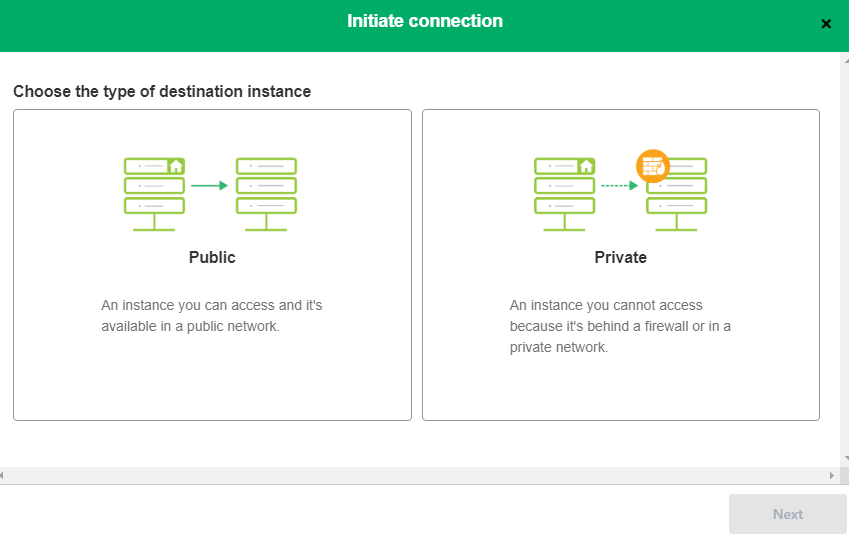 public to private connection between servicenow and GitHub