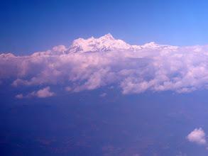 Photo: Flug nach Pokhara, Blick auf den Manaslu (8163 m)